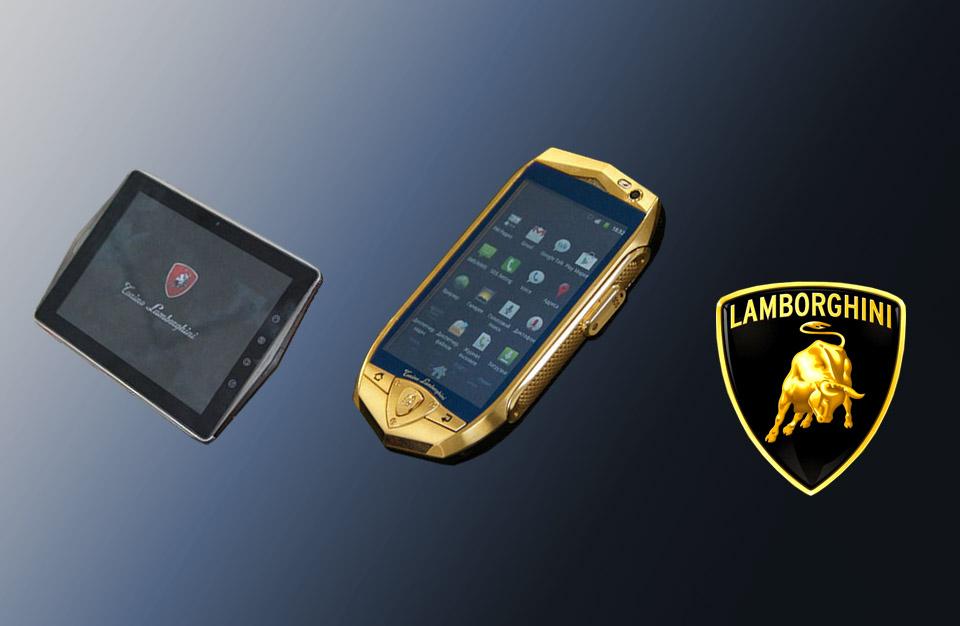Le Smartphone Lamborghini TL700 et la tablette en carbone Lamborghini L2800