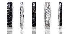 Alliances en diamants noirs et blancs