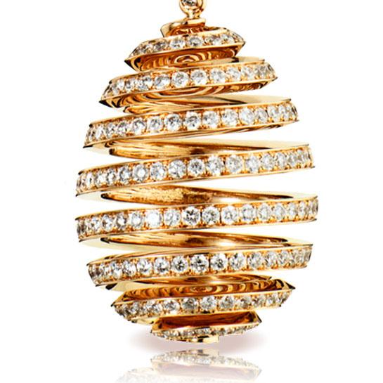 Fabergé oeuf spirale en or et diamant