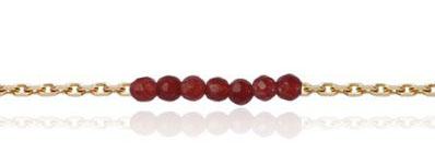 Bracelet en pierres fines rouge