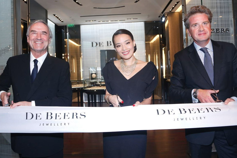 Inauguration boutique De Beers Shanghai