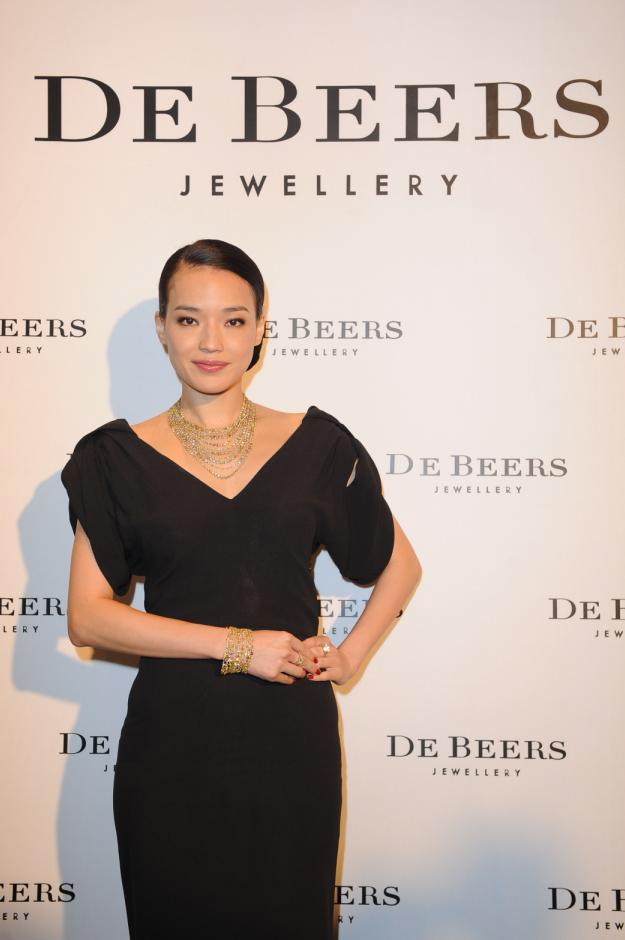 Shu Qi avec les bijoux De Beers