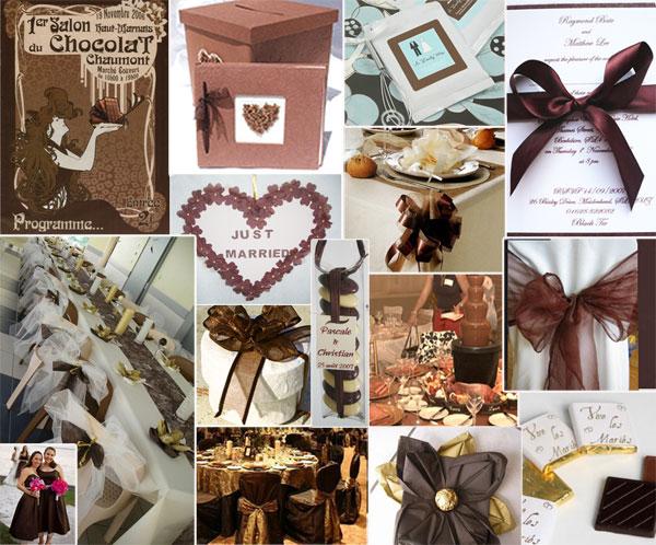 Thème mariage chocolat