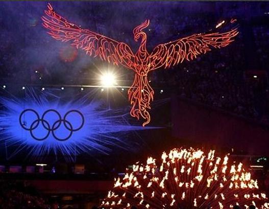 Flamme olympique cérémonie de fermeture JO 2012