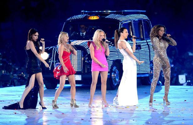 Spice Girls lors de la fermeture des Jo