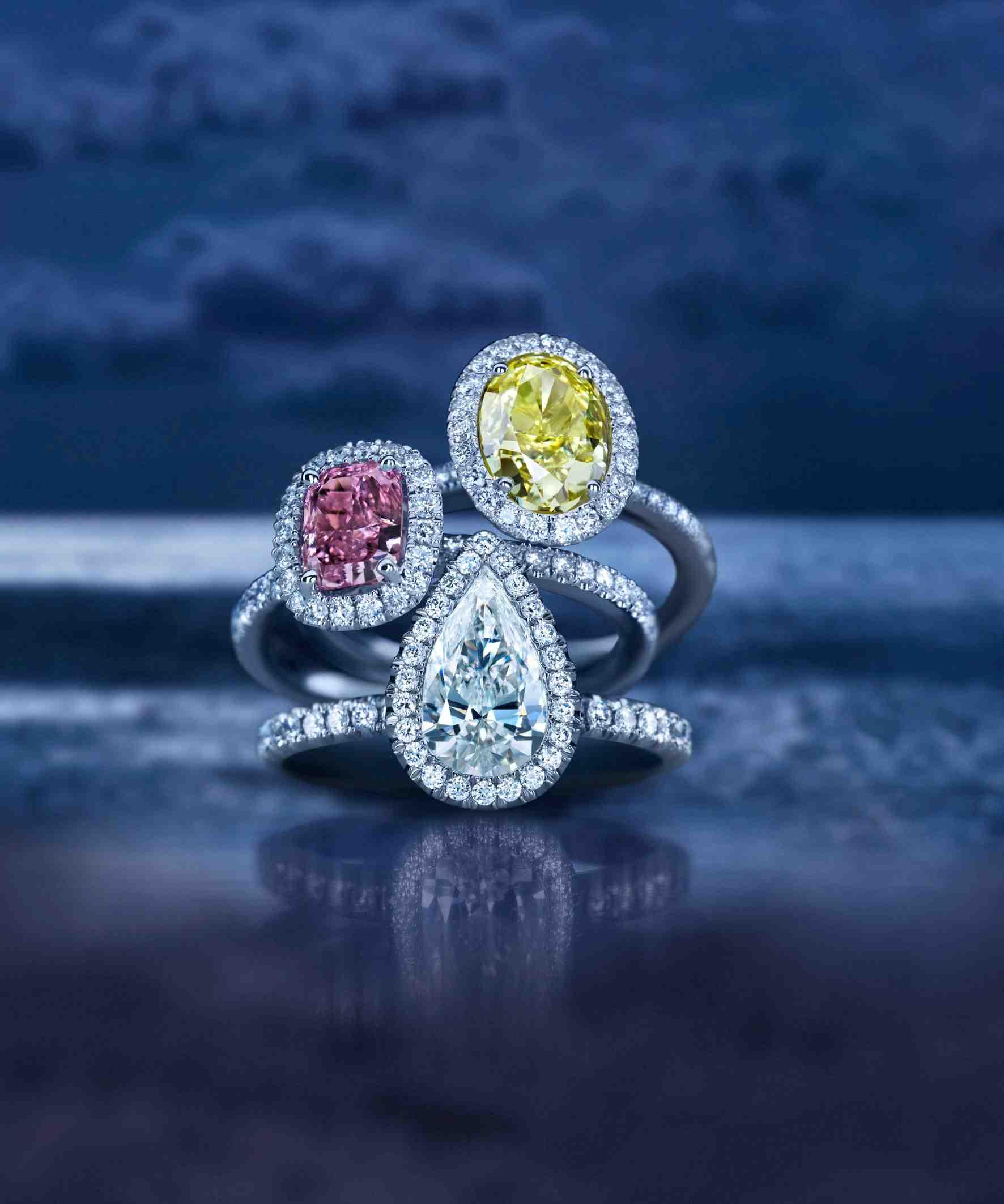 Bagues en diamant Aura de De Beers