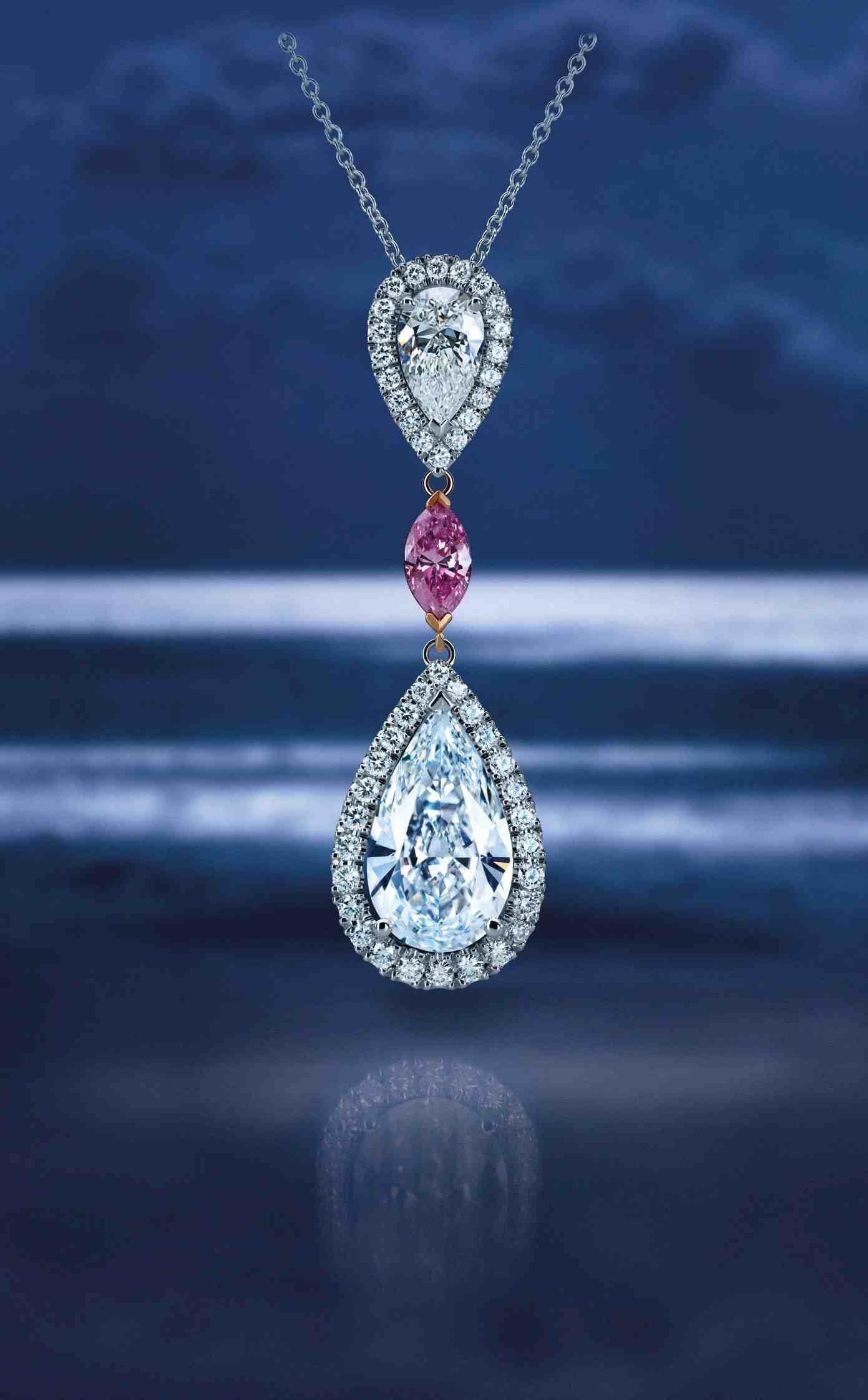 De Beers pendentif Aura en diamant