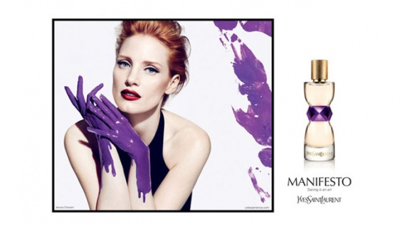 Actrice jessica chastain YSL