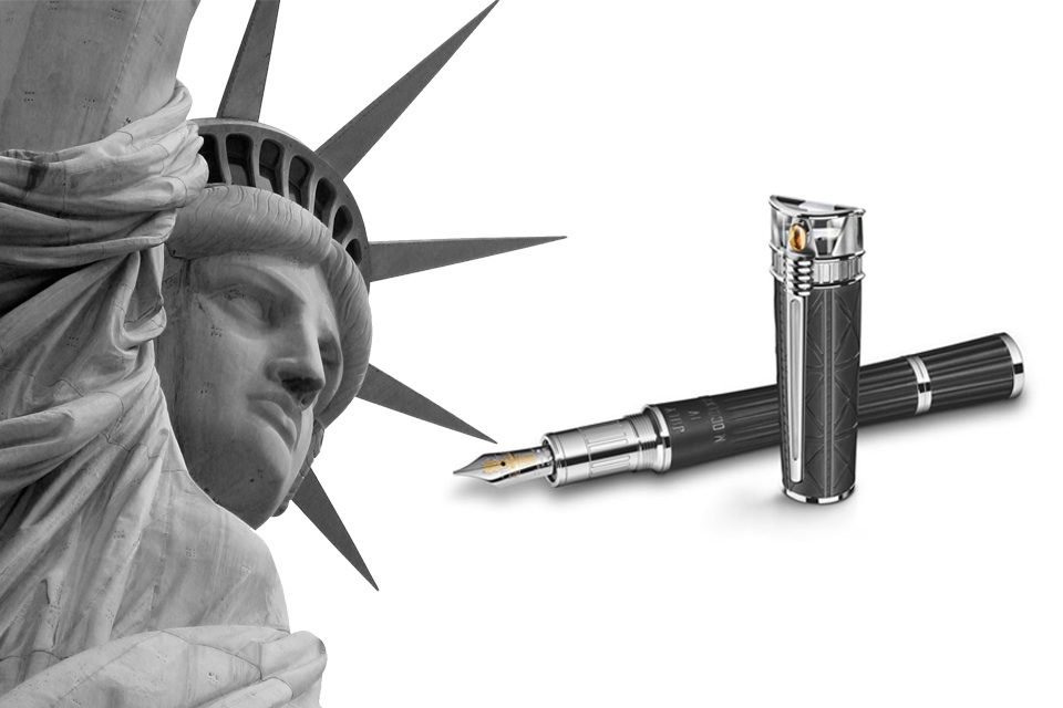 stylo montblanc statue de la liberté