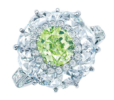 Bague Tiffany and co Diamant vert
