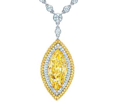 Pendentif Colors Wonders Diamant jaune