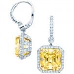Tiffany and co Boucles d'oreilles diamant jaune