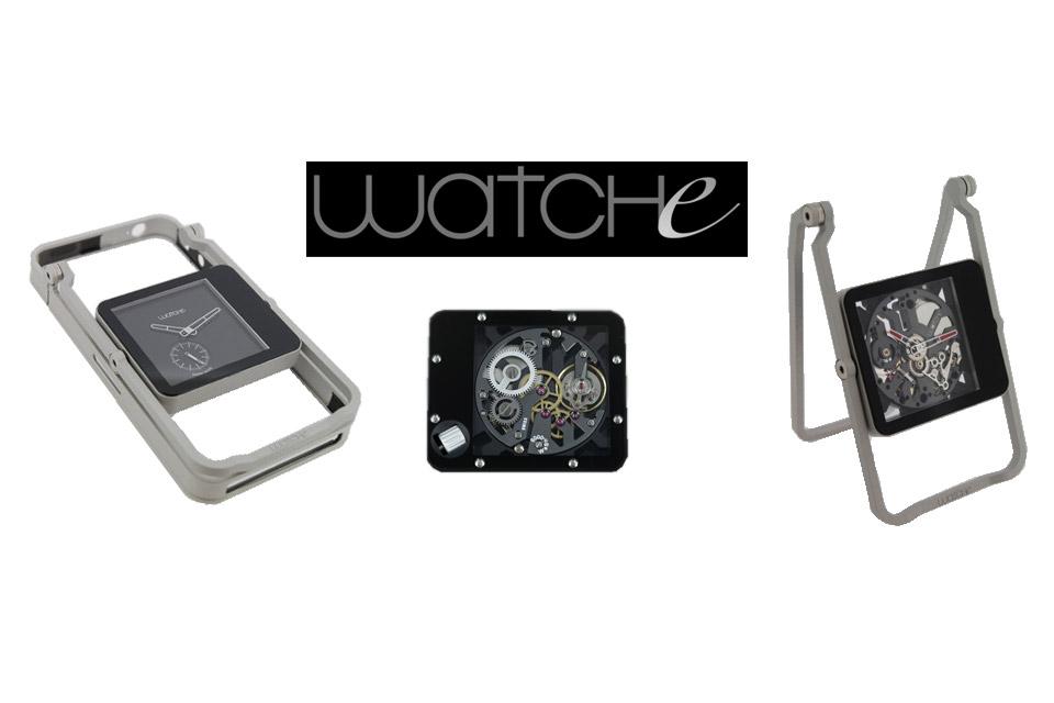 WATCHe : la coque pour iPhone avec une montre mécanique