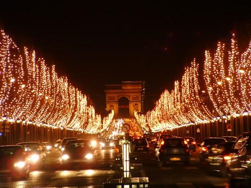 Avenue des Champs Elysée à Noël