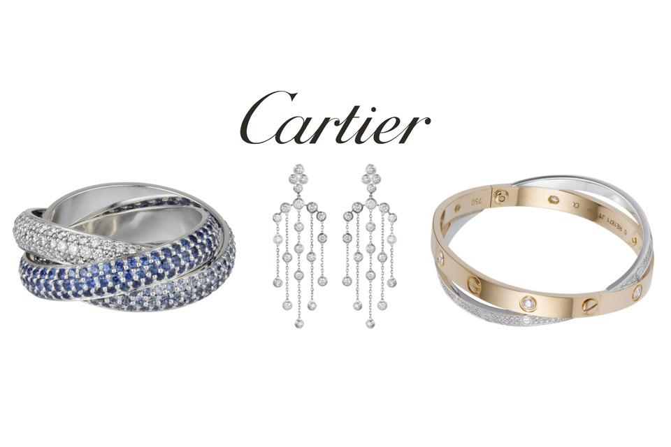 Sélection de bijoux Cartier pour Noël