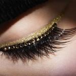 Faux cils et eye-liner or de la collection Grand Bal Dior