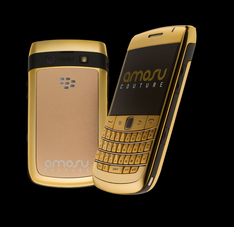 Blackberry Bold 9780 Gold Amosu Couture