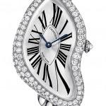 Montre Cartier Crash Or gris en diamants
