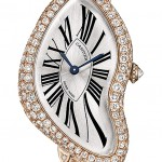 Montre Cartier Crash Or rose en diamants