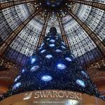 Sapin de Noël Swarovski Les Galleries Lafayette