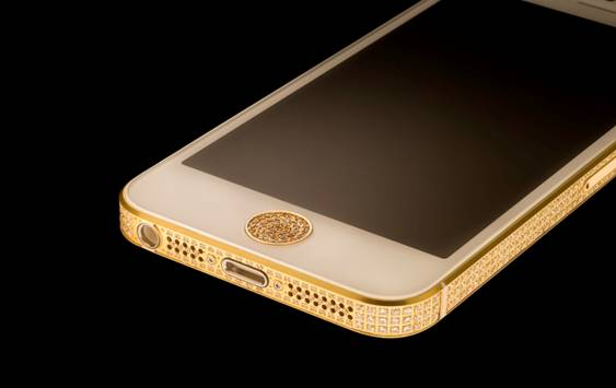 iPhone 5 Swarovski Gold