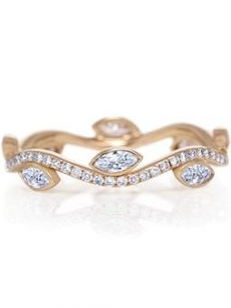 Alliance Adonis or rose et diamant