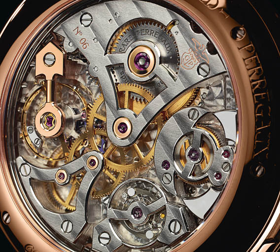 Mouvement mécanique Girard Perregaux 1966 Calendrier Annuel, Equation du temps et Répétition minute