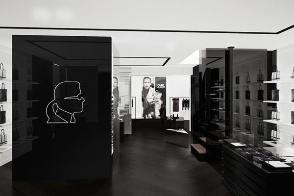 Karl Lagerfeld Concept-store intérieur
