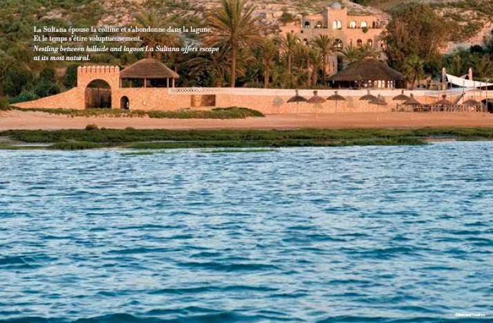 Hotel La Sultana Oualidia vu de la lagune