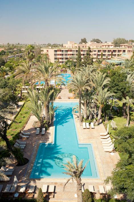 Jardins et piscines du Sofitel Palais Impérial