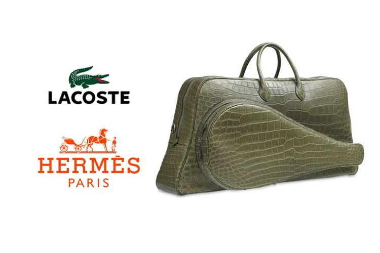 Sac tennis Hermès Lacoste 80-ans