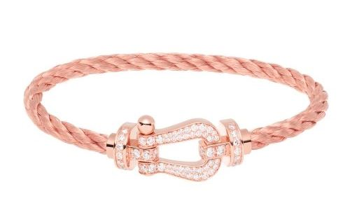 Bracelet Force 10 or rose et diamant