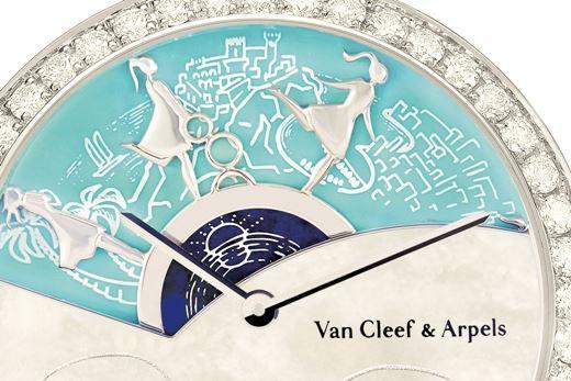 Cadran de la montre Lady Arpels Une Journée à Monaco