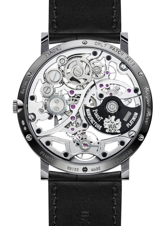 Fond de la Piaget Altiplano 38mm Skeleton 1200s Only Watch 2013