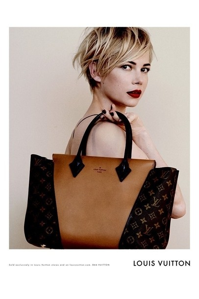 nouvelle g rie pour les sacs louis vuitton avec michelle williams. Black Bedroom Furniture Sets. Home Design Ideas