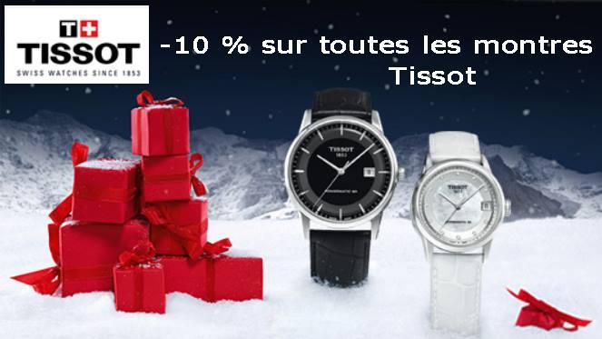 Tissot -10% spécial Noël