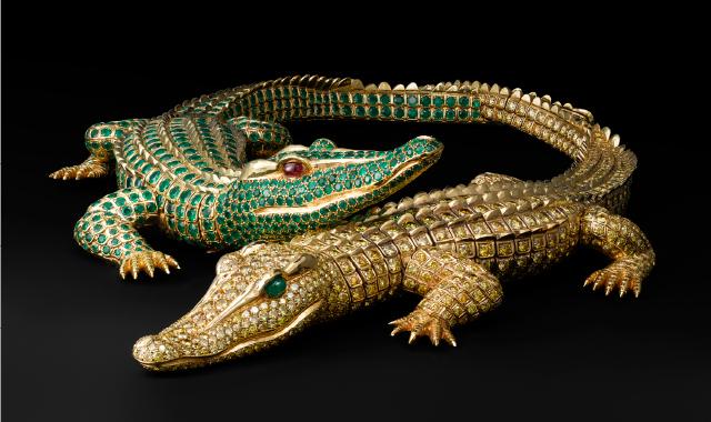 Crocodiles en or Cartier