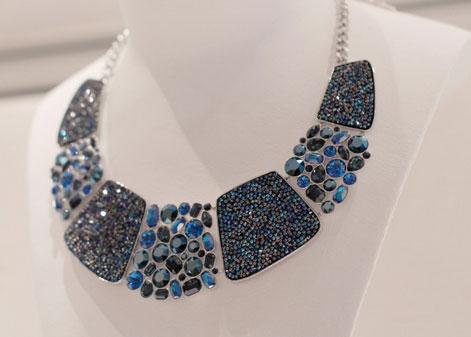 Collier Swarovski Bleu Monochrome