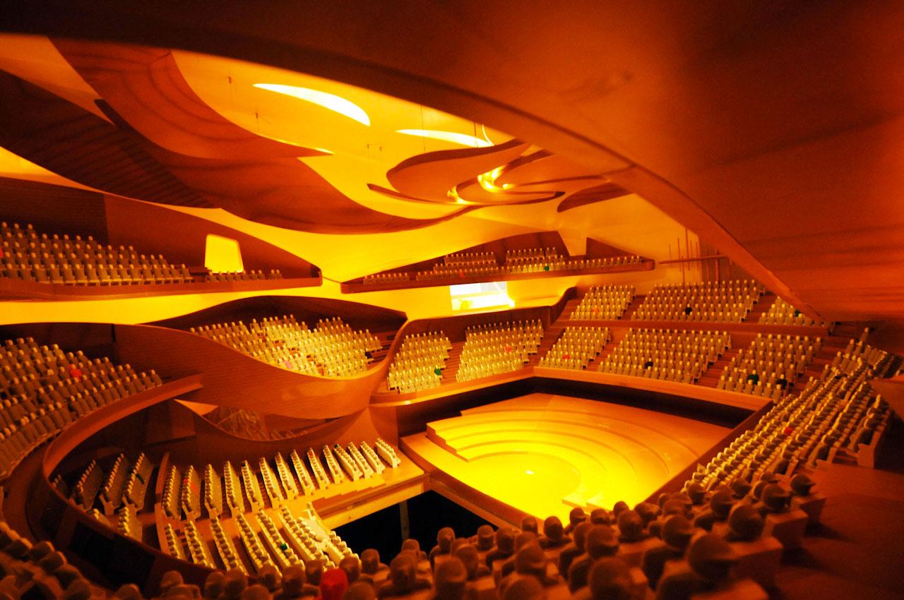 Philharmonie de Paris maquette interieure
