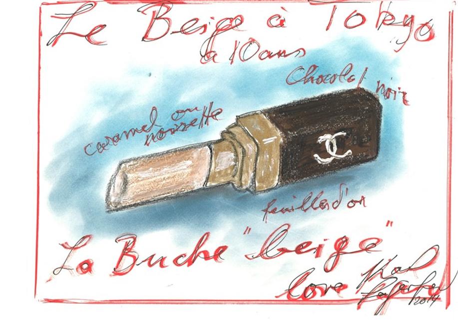 Croquis Bûche de Noël - Chanel