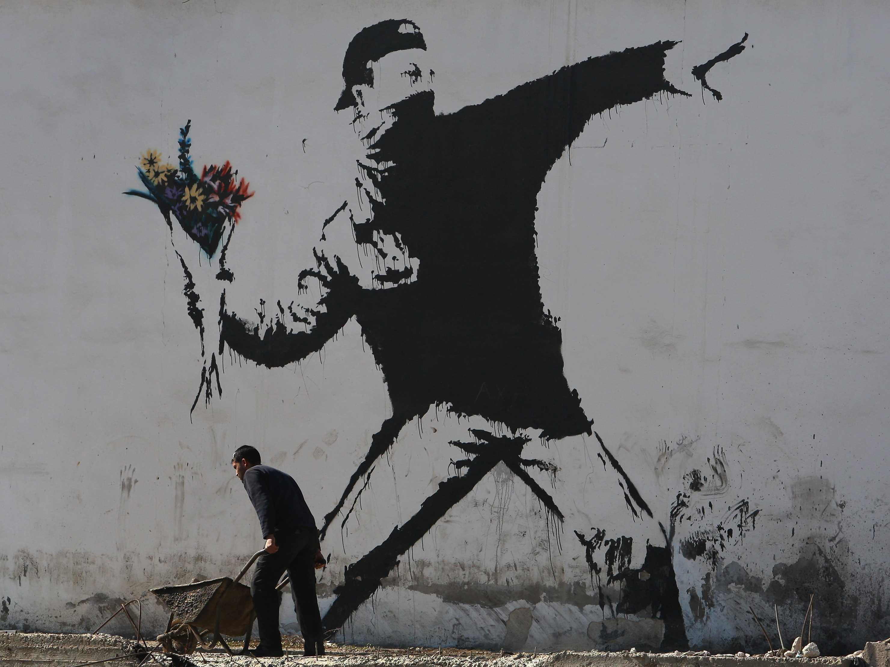 Banksy Fleurs