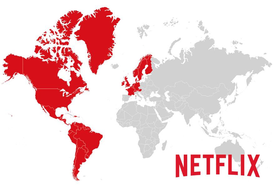 Netflix à travers le monde