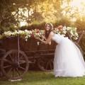 Mariage champêtre mariée